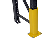 Column guards for pallet rack uprights