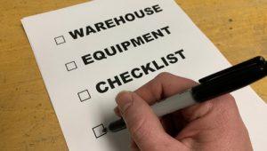 Warehouse Equipment List
