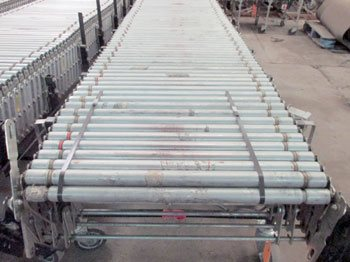 "Used Power Flex Conveyor 32""W x 380""L Extended"