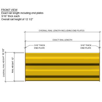 6'L Rail for Guard Rail (Quick Ship)