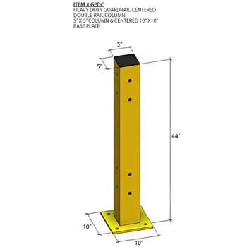 "44""H Post for Double Guard Rail (Quick Ship)"