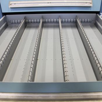 "27.75""x30""x59"" Used Vidmar Drawer Cabinet- 9 Drawers"
