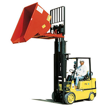 1 Yard Self Dumping Hopper, 2000 lb. Capacity (Quick Ship)