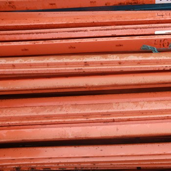 "93"" x 2.75"" Used Teardrop Pallet Rack Beam- New Style"