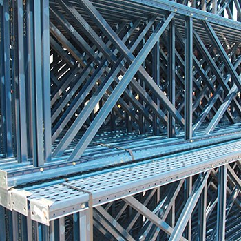 "42"" x 192"" Used Teardrop Pallet Rack Upright- Old Style"