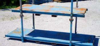 "49 1/2"" x 126"" x 53 1/4"" Used Stack Rack- Blue"