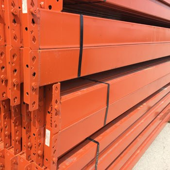 "120"" x 5"" Used Teardrop Pallet Rack Beam- Punched Style"