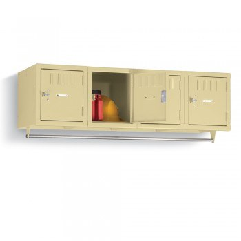 Wall-Mount Locker - 4 Openings Per Unit - Sand