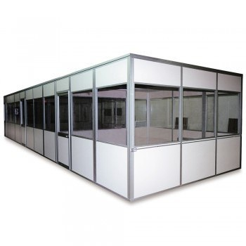20'Wx16'Dx8'H Economical Prefabricated Offices - Complete 4-Wall Building