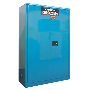 60 Gal. Acid & Corrosive Storage Cabinet, Self-Latch Safe-T-Door
