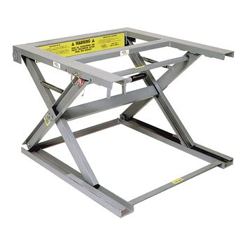 "Adjustable Pallet Stand with Two Phenolic Casters, 40.5"" Top Height"