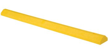 "72"" Car Stop Recycled Plastic, Yellow"