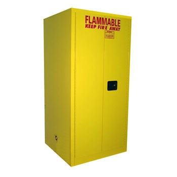 65 Gal. Flammable Drum Cabinet, Vertical, Self-Latch Sliding Door