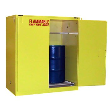 115 Gal. Flammable Drum Cabinet, Vertical, Standard 2-Door