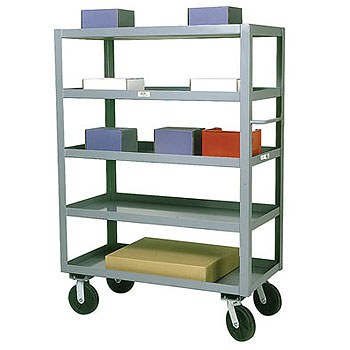 "24"" x 60"" Service Cart- 5 Shelves, 3000 lb. Capacity,"