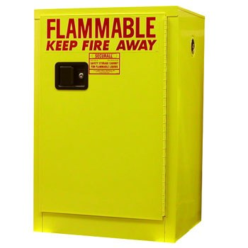 4 Gal. Flammable Storage Cabinet, Self-Latch Safe-T-Door