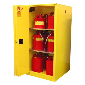 60 Gal. Flammable Storage Cabinet, Self-Latch Safe-T-Door
