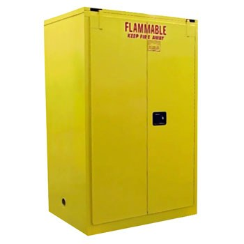90 Gal. Flammable Storage Cabinet, Self-Latch Sliding Door