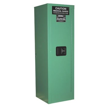 4 D&E-sized Medical Gas Cylinder Storage Cabinet, Fire Lined, Safe-T-Door