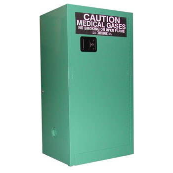 12 D&E-sized Medical Gas Cylinder Storage Cabinet, Safe-T-Door