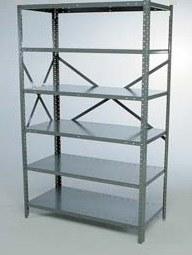 "48"" x 18"" x 85"" Open Metal Clip Shelving Starter- 5 Shelf"
