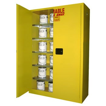 60 Gal. Paint & Ink Storage Cabinet, Self-Latch Safe-T-Door