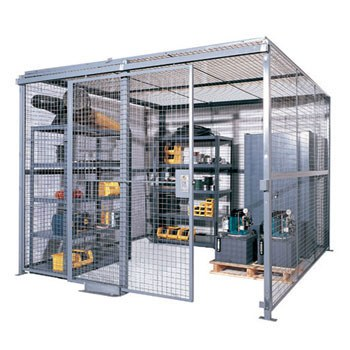 10' x 10' x 8' Security Cage- 2 sides without roof