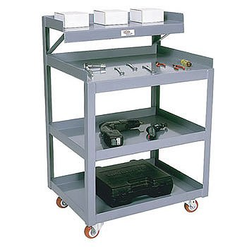 "20"" x 27"" Tool Cart- 3.5 Shelves"