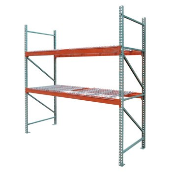 "42"" x 120"" x 108"" Pallet Rack Starter - 4 Wire Decks"